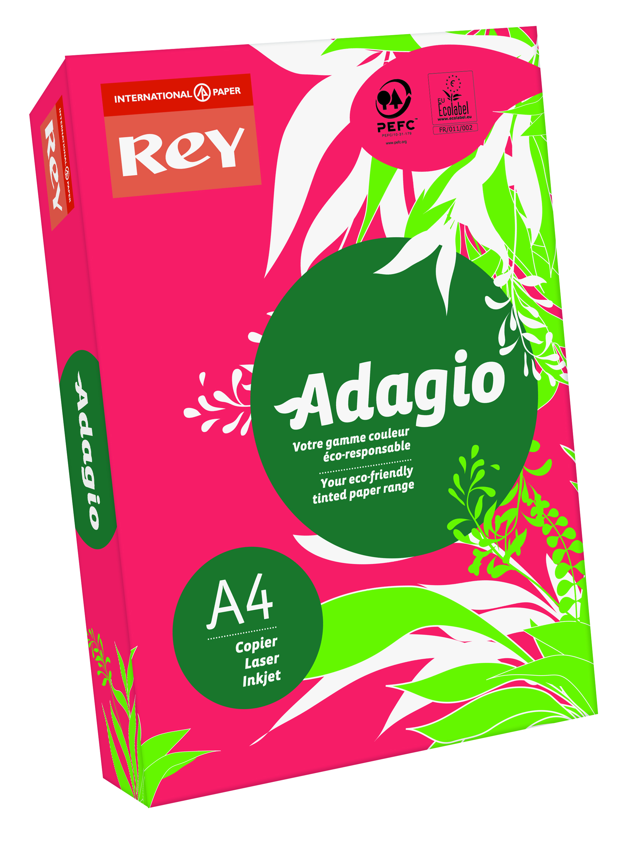 Rey Adagio A4 Paper 80gsm Deep Red RM500