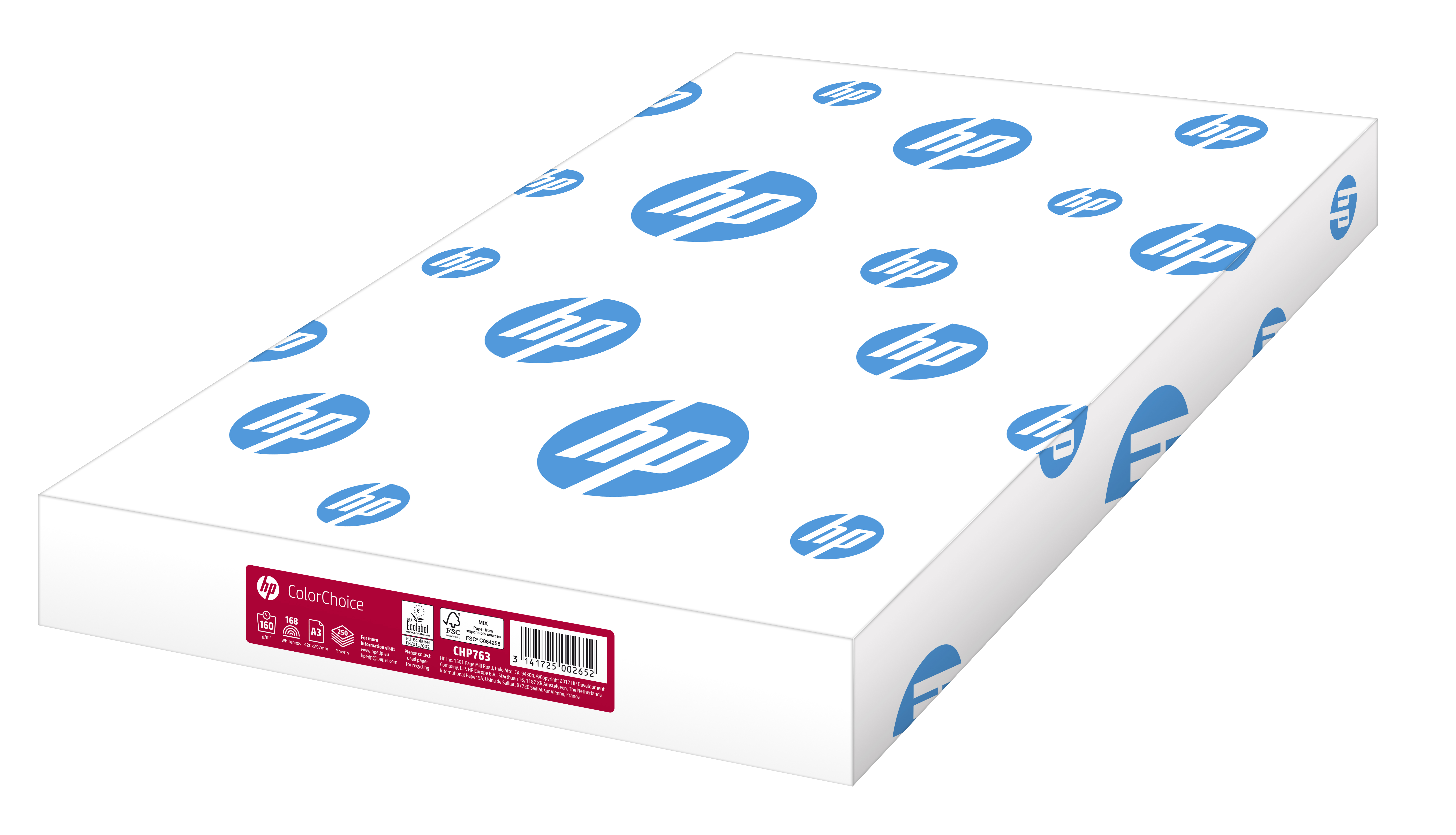 A3 HP Color Choice FSC Paper 160gsm A3 Ream 250 Sheets CHP763