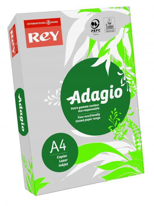 Rey Adagio A4 Paper 80gsm Grey Ream 500 Sheets