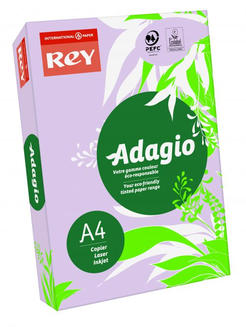 Rey Adagio Paper A4 80gsm Lilac (Ream 500)