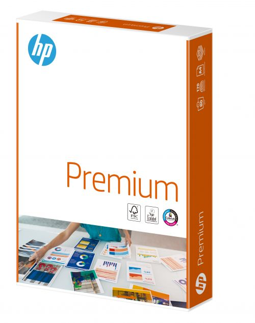 Hewlett Packard HP Premium Paper FSC Colorlok Ream-wrapped 80gsm A4 White Ref 717753 [500 Sheets]