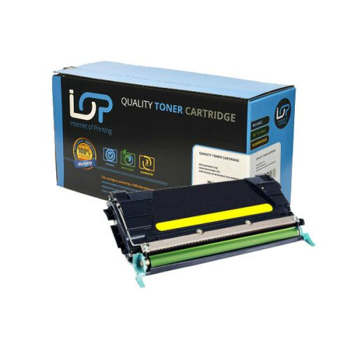 IOP Remanufactured Toner Cartridge for use in Lexmark C 522 / C5342YX Yellow 7000 pages