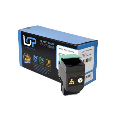 IOP Remanufactured Toner Cartridge for use in Lexmark C 540n / C540H1YG / CH5402YG Yellow 2000 pages