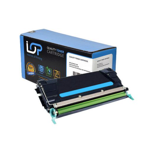 IOP Remanufactured Toner Cartridge for use in Lexmark C 734 / C734A2CG Cyan 6000 pages