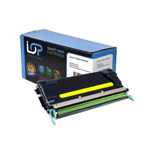 IOP Remanufactured Toner Cartridge for use in Lexmark C 734 / C734A2YG Yellow 6000 pages