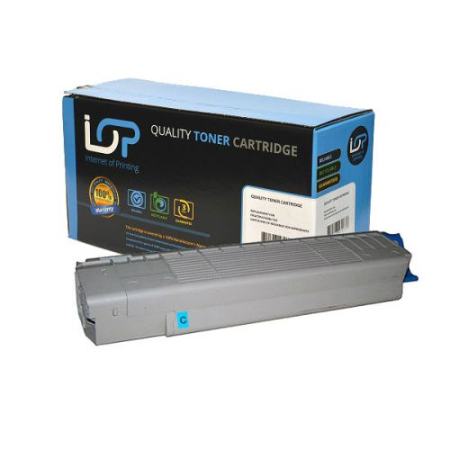 IOP Remanufactured Toner Cartridge for use in Oki C 8600 / -8800 / 43487711 Cyan 6000 pages