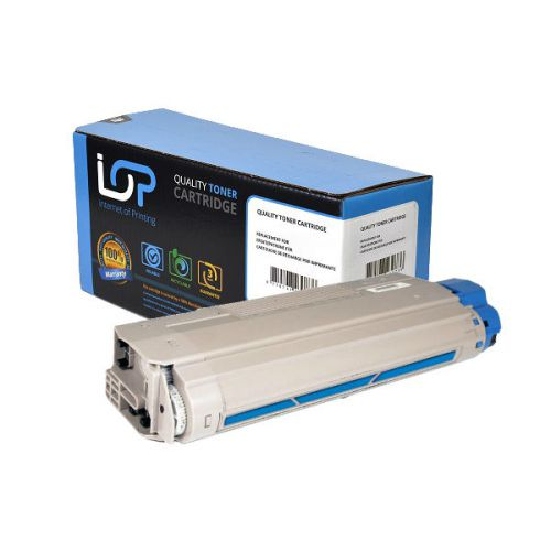 IOP Remanufactured Toner Cartridge for use in Oki C 610 / -cdn / -dn / -dtn / -n / 44315307 Cyan 6000 pages