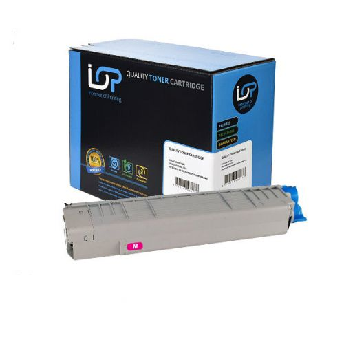 IOP Remanufactured Toner Cartridge for use in Oki C 831 / 841 / 44844506 Magenta 10000 pages