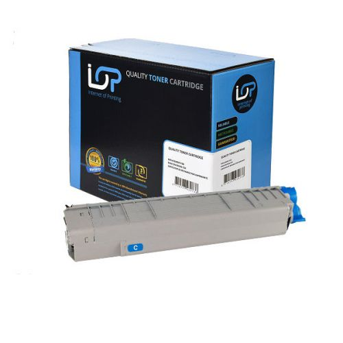 IOP Remanufactured Toner Cartridge for use in Oki C 831 / 841 / 44844507 Cyan 10000 pages