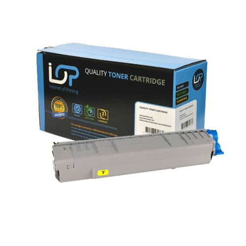 IOP Remanufactured Toner Cartridge for use in Oki C 822 / -n / -dn / 44844613 Yellow 7300 pages