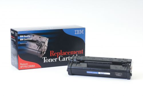 IBM Replacement Toner Cartridge for use in HP Laserjet 5L 06A / C3906A Mono 2500 pages