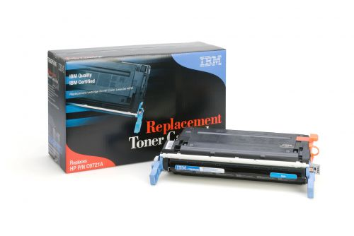 IBM Replacement Toner Cartridge for use in HP Color Laserjet 4600 641A / C9721A Cyan 8000 pages
