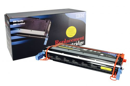 IBM Replacement Toner Cartridge for use in HP Color Laserjet 5500/5550 645A / C9732A Yellow 12000 pages