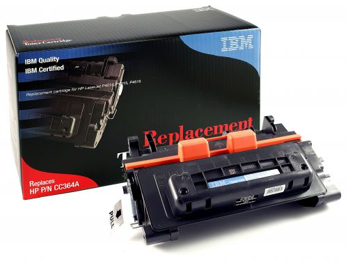 IBM Replacement Toner Cartridge for use in HP Laserjet P4015 64A / CC364A Mono 10000 pages