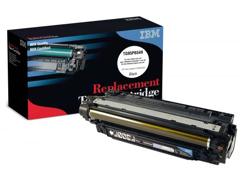 IBM Replacement Toner Cartridge for use in HP Color CP4025 647A / CE260A Black 8500 pages
