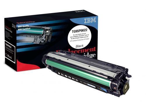IBM Replacement Toner Cartridge for use in HP CLJ Enterprise CP 5525 650A / CE270A Black 13500 pages