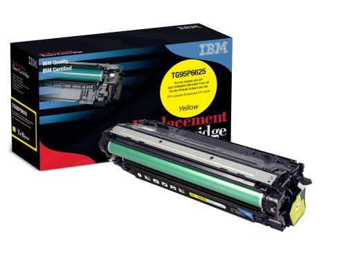IBM Replacement Toner Cartridge for use in HP CLJ Enterprise CP 5525 650A / CE272A Yellow 15000 pages
