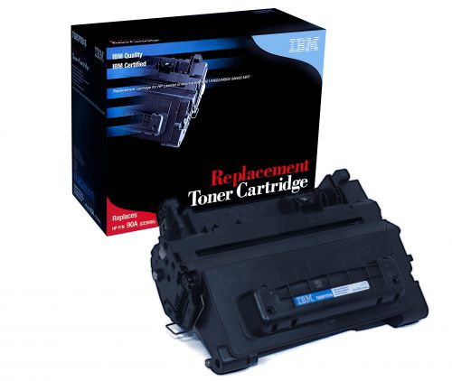 IBM Replacement Toner Cartridge for use in HP Color Laserjet Enterprise M4555 MFP 90A / CE390A Mono 10000 pages