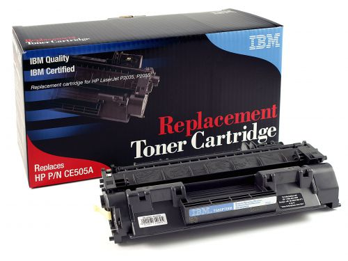IBM Replacement Toner Cartridge for use in HP Laserjet P2055 05A / CE505A Mono 2300 pages