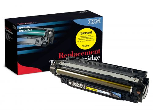 IBM Replacement Toner Cartridge for use in HP Laserjet Enterprise M680 653A / CF320X Yellow 16500 pages