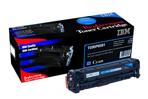 IBM Replacement Toner Cartridge for use in HP Laserjet Pro M476 312A / CF380A Cyan 2700 pages