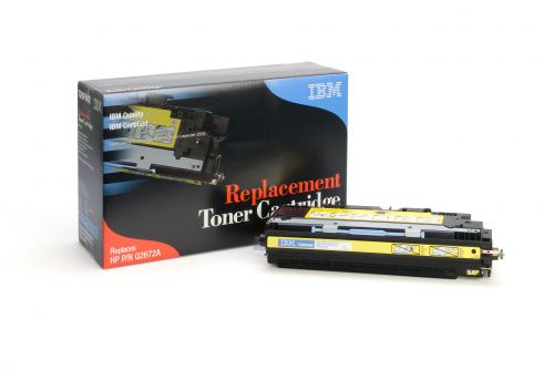 IBM Replacement Toner Cartridge for use in HP Color Laserjet 3500 309A / Q2670A Yellow 4000 pages
