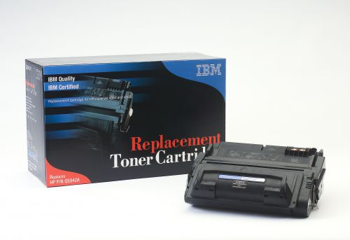 IBM Replacement Toner Cartridge for use in HP Laserjet 4250/4350 42A / Q2682A Mono 10000 pages