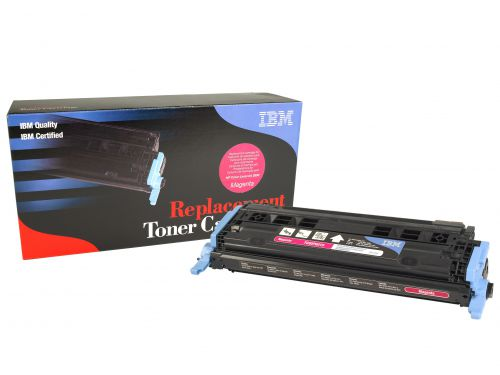 IBM Replacement Toner Cartridge for use in HP Color Laserjet 2600 124A / Q6001A Magenta 2000 pages