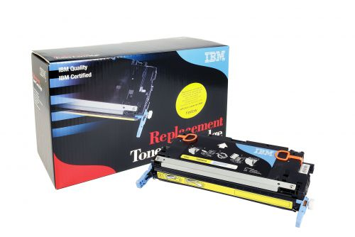 IBM Replacement Toner Cartridge for use in HP Color Laserjet 3600 502A / Q6470A Yellow 4000 pages
