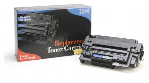 IBM Replacement Toner Cartridge for use in HP Laserjet P3005 51A / Q6511X Mono 6500 pages