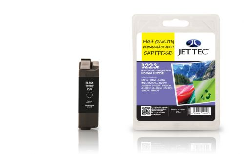 JET TEC Remanufactured Inkjet Cartridge Replaces Brother LC223 Black