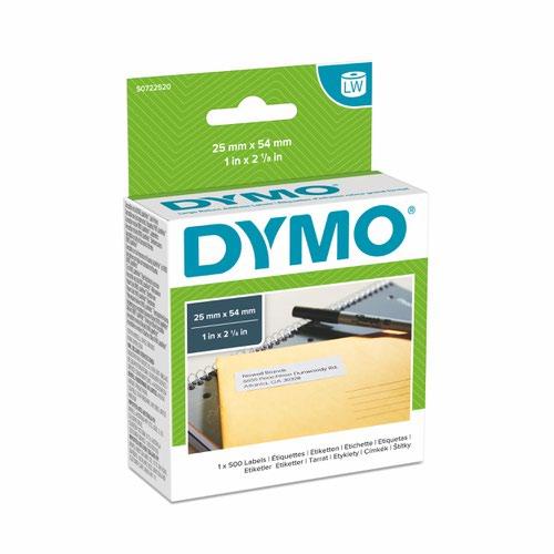 Dymo 11352 25mm x 54mm Returns Labels Tape Black On White