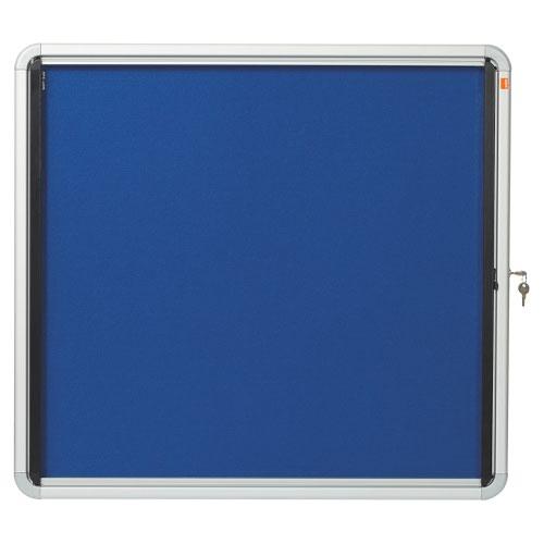 Nobo 1902555 Premium Plus Internal Glazed Case Blue Felt 6 x A4