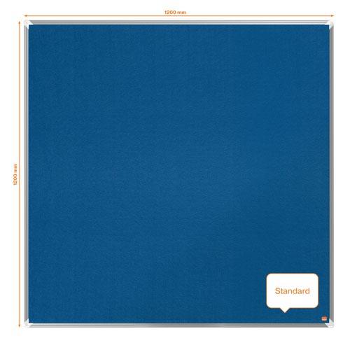 Nobo 1915190 Premium Plus Blue Felt Notice Board 1200x1200mm
