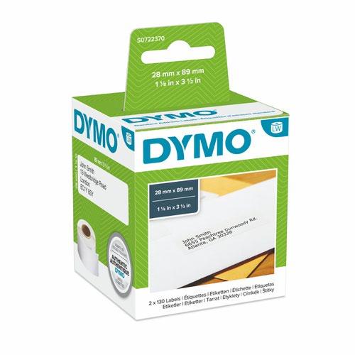 Dymo 99010 Standard Address Label Black On White Box of 2 rolls