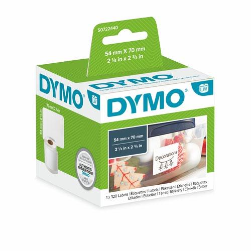 Dymo 99015 54mm x 70mm Large Multipurpose Labels Black On White