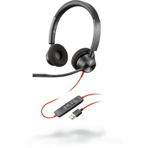 Poly Blackwire 3320 USB-A UC Binaural Headset