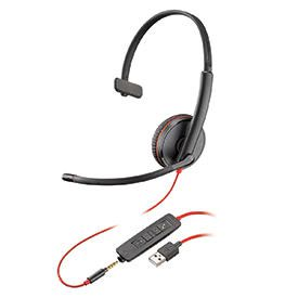 Poly Blackwire C3215 USB-A Monaural Headset