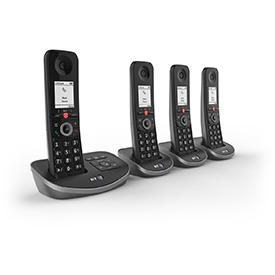 BT Advanced Quad Dect Call Blocker Telephone with Answer Machine