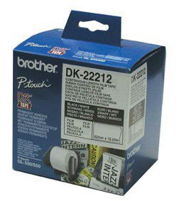 Brother DK22212 White Film Tape