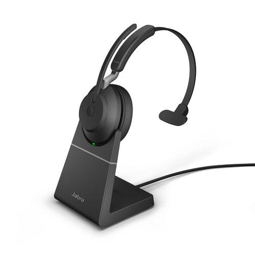 Jabra Evolve2 65 USB-C MS Mono Headset with Charging Stand