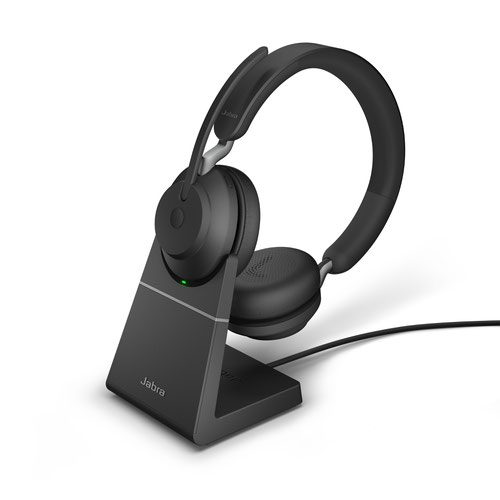 Jabra Evolve2 65 USB-C MS Stereo Headset with Charging Stand