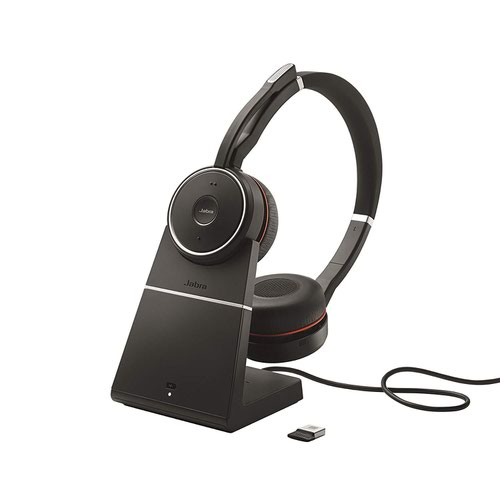 Jabra Evolve 75 UC Bluetooth wireless Stereo headset with Stand