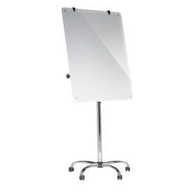 Bi-Office 700 x 1000mm Magnetic Glass Mobile Easel