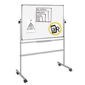 Bi-Office Mobile Melamine Revolving Gridded Board 1500 x 1200mm