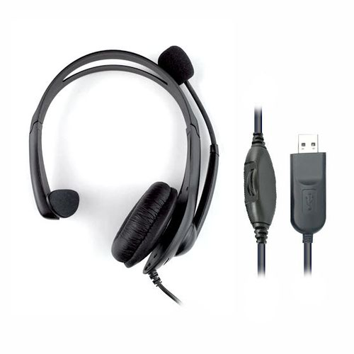 HiHo 218M Monaural USB-A Headset with Boom Mic