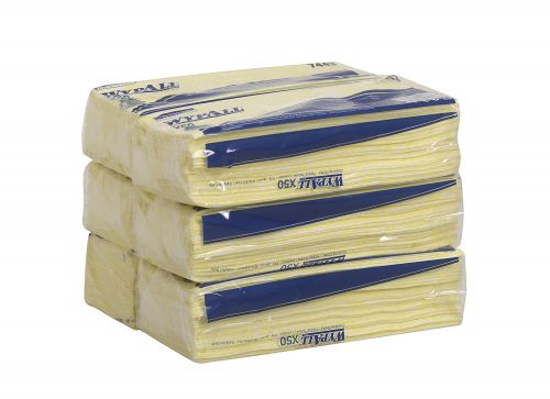 WYPALL X50 Microfibre Cleaning Cloths Yellow (50) 7443