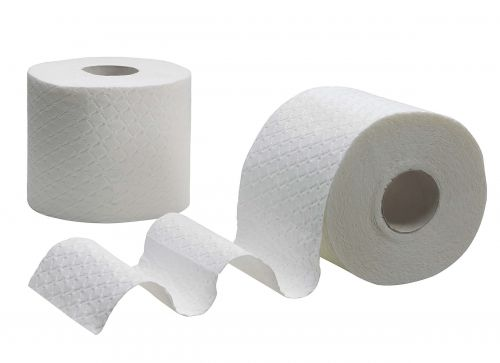 Kleenex Comfort Small Toilet Roll Pkd 4 Rolls of 160 Sheets 2-ply White Ref 8484 [Pack 6]