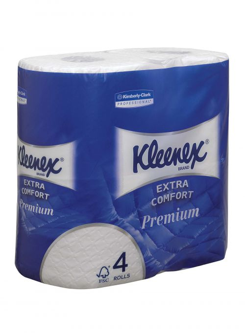 KLEENEX Quilted Toilet Roll 4-Ply (4) 8484