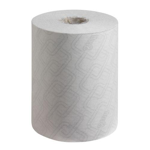 SCOTT 6695 Essentials Slimroll Hand Towel Roll 198mmx190m 1-Ply White Ref 6695 [Pack 6]